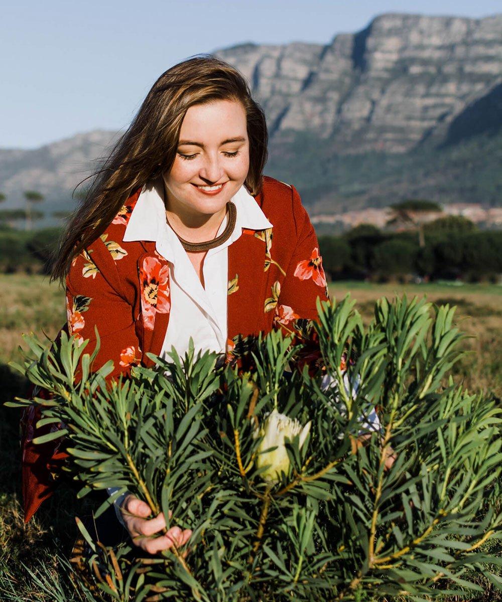 Elzanne Singles, our resident botanist