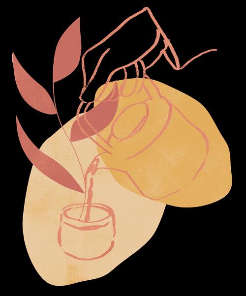 Grounded tea blog illustration