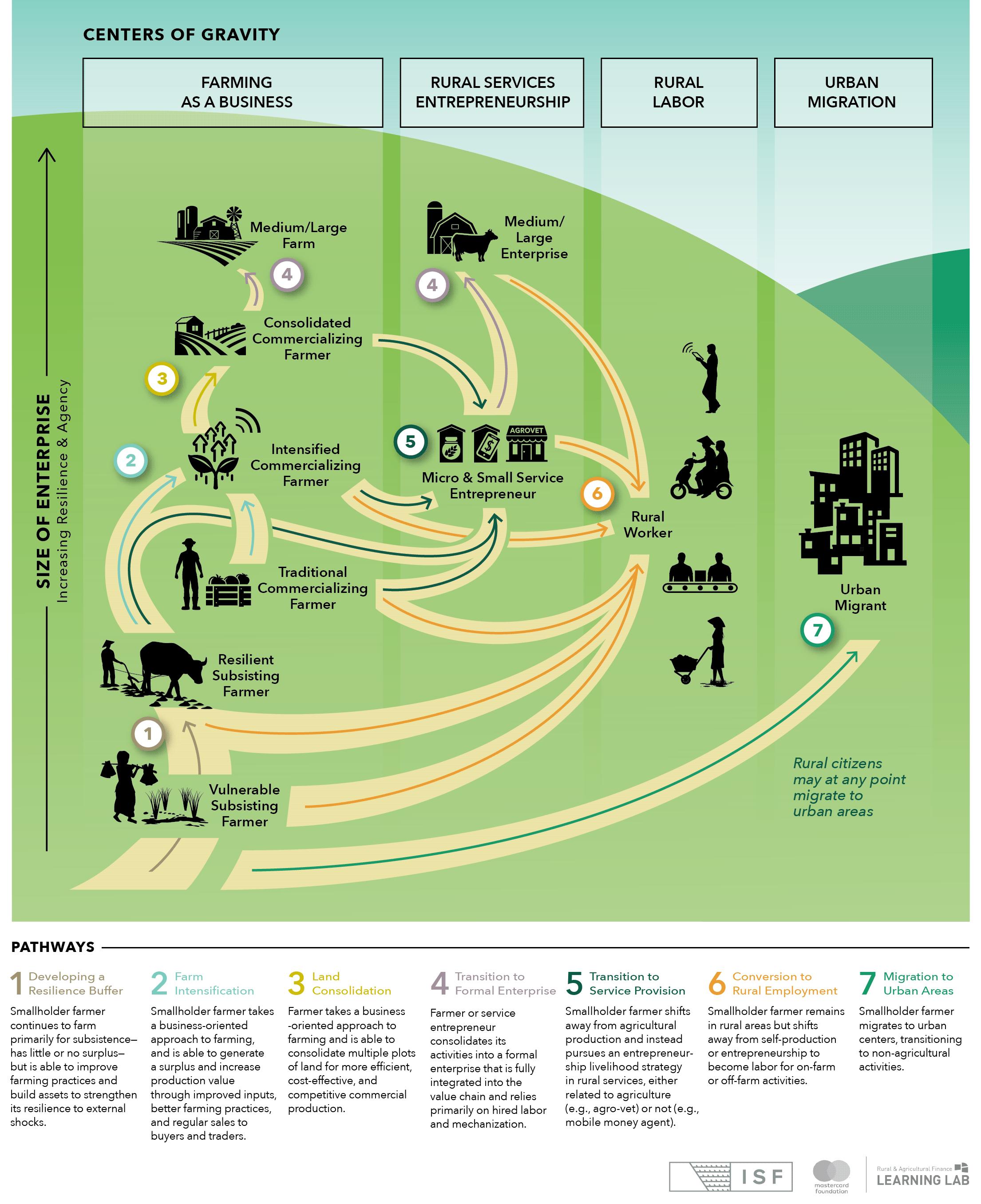Infographic explaining rural pathways.