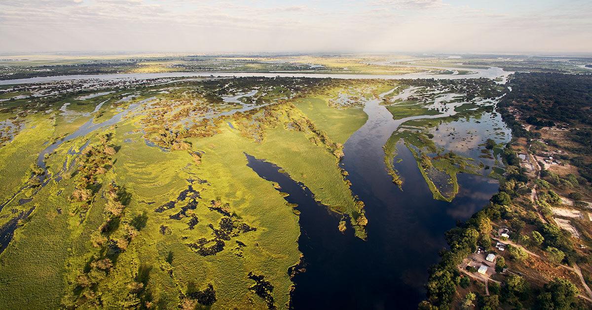 Aerial image of Simalaha region of southern Zambia.